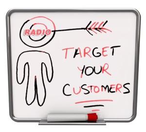target customer on radio