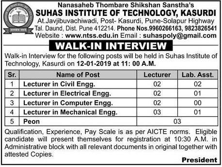 Times Of India Recruitment Ad